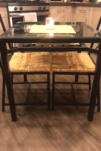Glass Table with Chairs