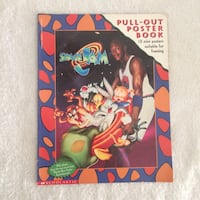 SPACE JAM PULL OUT POSTER BOOK