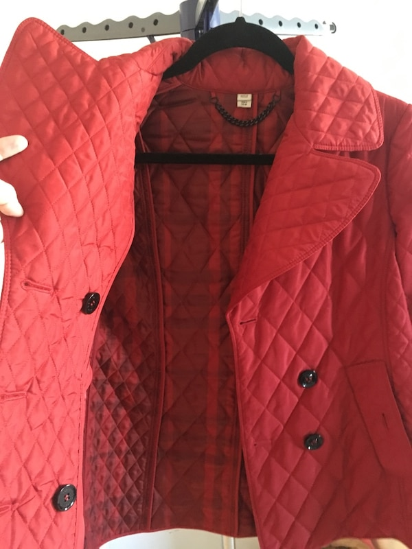 red button-up vest