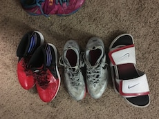 Three pairs of footwears