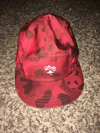 Red camo hat (adjustable) Littleton