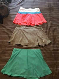 Girls tennis skirts $15.00 for all 3 Coquitlam