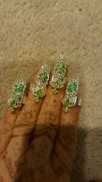 green and white floral accessory Surrey, V3X 1P3