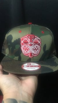 green and red camouflage 9fifty snapback cap Ewa Gentry, 96706