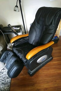 black and yellow leather massage chair Surrey, V3S 4E8