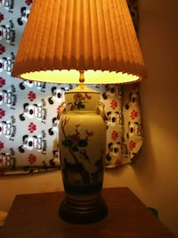 Large hand painted lamp