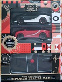 FAO Schwarz 2-Pack Remote Control Sports Italia Toy Cars w/ LED Lights