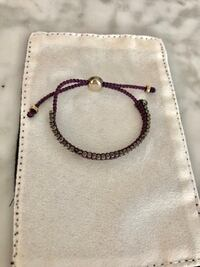 Links of London-sterling silver and plum friendship bracelet-never worn Toronto, M4S
