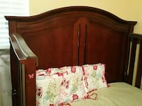 brown wooden bed frame Tampa, 33610