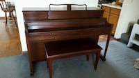 Brown wooden upright piano Gurnee, 60031