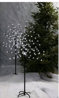Holiday twig tree pure white led