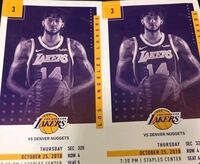 Lakers tickets (2) Los Angeles, 91345