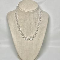 Genuine 14k White Gold Crystal Necklace