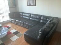 Black 5 piece sectional couch New York, 11207