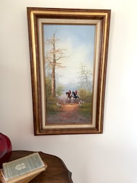 Gorgeous Original Oil on Canvas Hunt Scene by B. Phelps Baltimore, 21205