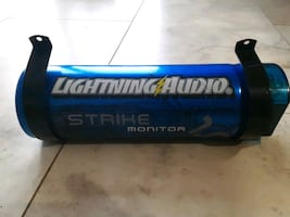 Lightning audio strike capacitor