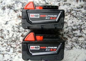 2 Milwaukee 5.0 batteries