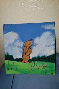 Bunny and butterfly painting