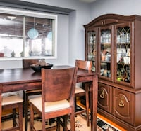 Pub style dining table and Antique Hutch Brampton, L6Y 4V7