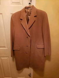 Men's Overcoat beige large $145. Like new, purchase price was $700