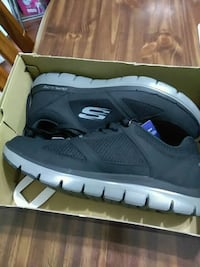 pair of gray Adidas low-top sneakers in box Abbotsford, V2T 3R4