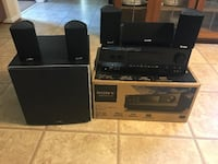 Sony STR-DH810 Receiver with surround speakers/subwoofer home theatre Herndon