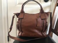brown leather 2-way bag Monument, 80132