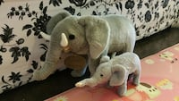 two gray mother and cub elephant plush toys Markham, L3R 3G9