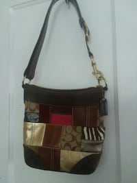 brown and black leather crossbody bag Clearwater, 33755