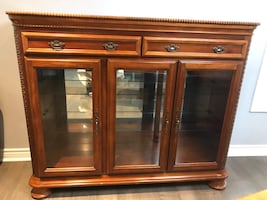 Wood Display Cabinet/Credenza/China Cabinet