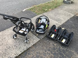 Graco SnugRide Click Connect 35 Infant Car Seat/Extra Base/Stroller