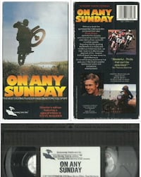 vhs On Any Sunday VHS 1971 Steve McQueen Bruce Brown  OOP Rare Yamaha