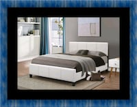 White platform bed with mattress and box UNIVERSITY PA, 20782
