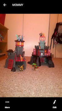 Playmobel 2 castle set with people and Dragon