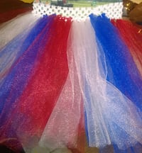 girl's blue red and white tutu skirt Fort Meade, 33841