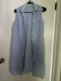 Blue striped button up Pearl City, 96782
