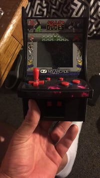 Arcade style video game.