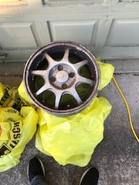 black and yellow car wheel Scappoose, 97056