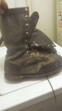 pair of black leather boots Marion, 62959