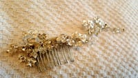 gold-colored diamond studded accessory Vaughan