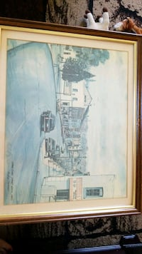 brown wooden framed painting of house Cambridge, N1R 5S5