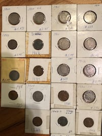 Old coins selling all together $60 obo  Springfield, 22151