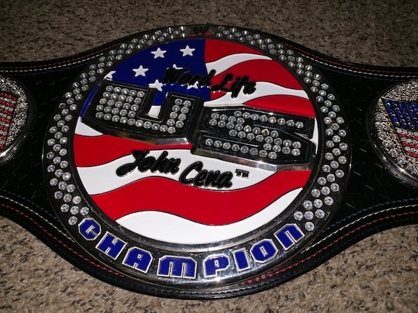 5527ffdf7199 Wwe Spinner Us Chionship Belt John Cena In Los
