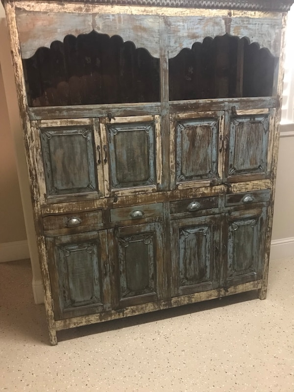 Used Solid Distressed Wood Armoire For Sale In Frisco Letgo