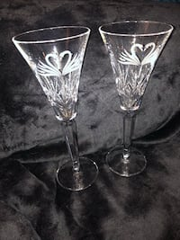 Waterford lovebird champagne flutes Boston