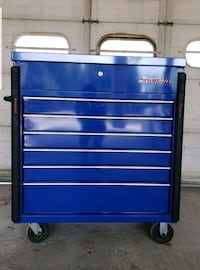 blue and black tool cabinet Lothian, 20711