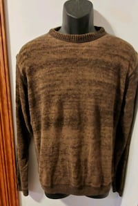 Perry Ellis Solid Brown Light Sweater Middletown, 21769