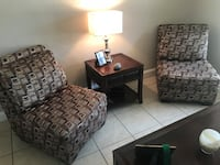 Two accent chairs 75.00 for the set of two  Wilton Manors, 33311