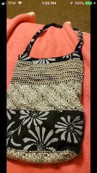 Black and white shoulder bag Pace, 32571