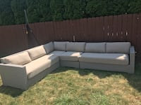 Brand new crate and barrel patio sectional. Was 5700 new with delivery. Priced right at 1850. 446 mi
